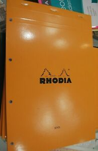 RHODIA SEYES RULED PAPERS ORANGE COVER