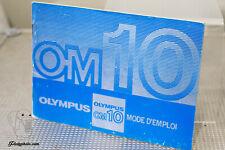 OLYMPUS OM10 MODE D'EMPLOI INSTRUCTION MANUAL