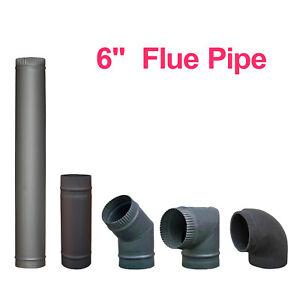 "Chimney Flue Pipe 150mm 6"" For Wood Burning Log Burner Multi Fuel Stoves"