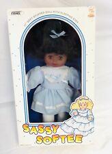 "Vintage Fishel 11"" Stuffed Doll ""Sassy Softee"" w/ Sleeping Eyes African American"