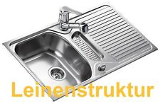 Teka TEXINA 50 Design Leinen edelstahl Einbauspüle Edelstahlspüle Leinenspüle