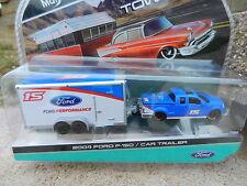 1:64 MAISTO *TOW & GO* Blue 2004 Ford F150 w/Enclosed Car Trailer *HITCH* NIP