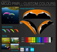 Ozone Mojo Pwr Power Glider CUSTOM COLORS! Paramotoring, PPG, Powered Paraglider