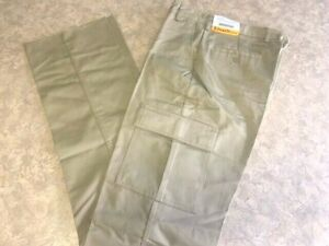 Men's ~EDWARDS Flat Front Tan Cargo Pants - 2568 - Size 30x35 Unhemmed~ NEW