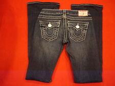 True Religion Joey Big T Twisted Flare Blue Jeans size 25 ( 28 W X 35 L  )