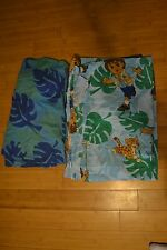 Nick Jr. Go Diego Go Twin Sheet Flat Fitted Animals Cutter Fabric