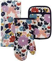 KATE SPADE NEW YORK 3 Piece Kitchen Set Swing Floral Pattern - FREE SHIPPING