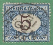 Italy #J17 used 5L Postage Due brown numerals 1874 cv $35