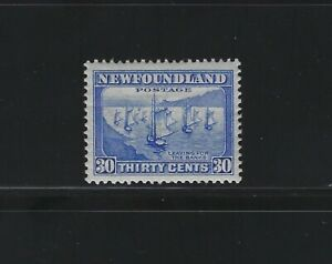 NEWFOUNDLAND - #198 - 30c LEAVING FOR THE BANKS VF MINT STAMP MH