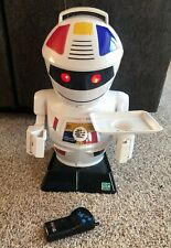 "Emiglio Remote Control Robot 24"" Serving Tray Talking Droid VTG 1990 Works Great"