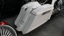 "Stretched 6"" Drop Back SaddleBags Fender Harley 1997-2008 flh Stock Lids"