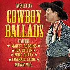 Twenty-four Cowboy Ballads CD - Marty Robbins Tex Ritter Roy Rogers & More