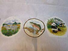 White Cotton Fabric No Sew Appliques of Animals Six Full Panels Zebra Lion Fish