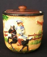 Rare 1930s Maruhon Ware Japan Dick Turpin Preserve Jam Pot  | FREE Delivery UK*