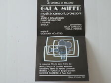 "VINTAGE (1981)  POSTER: ""GALA MIFED"" (MILAN INTERNATIONAL FILM FEST) RAI TV-1"