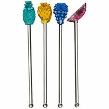 8* Cocktail Stirrers Acrylic Glass Novelty Reusable Sticks Summer Party Drinking