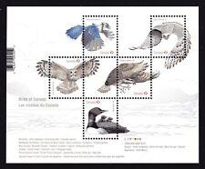 2017 Canada SC# Birds of Canada-2, Owls, Blue, jay, Loon, Gyrfalcon S.S - M-NH