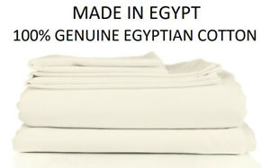 100% Genuine Giza Egyptian Cotton Fitted Bed Sheet Set 3 COLOURS Made in Egypt