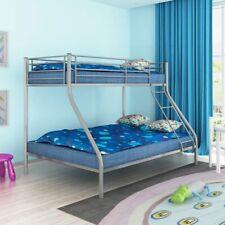 Cadre de lit superposé pour enfant 200x140/200x90 en métal gris A2Q8