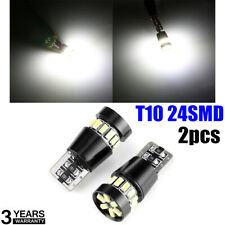 2X T10 501 194 W5W SMD 24LED Car HID White CANBUS Error Free Wedge lamp Bulb New