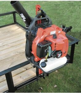 Jungle Jim's Backpack Blower Holder Rack for Lawn & Landscaping Trailers