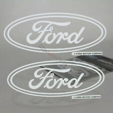 2 Ford Logo Clear Vinyl Window/Glass Decals Emblem Stickers for Car-Truck-SUV