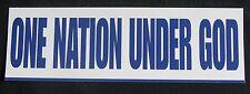 ONE NATION UNDER GOD BUMPER STICKER!