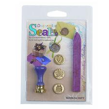 Manuscript Sealing Wax Coin Seal Set Butterfly/Cake/Heart