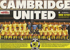 CAMBRIDGE UNITED FOOTBALL TEAM PHOTO>1990-91 SEASON