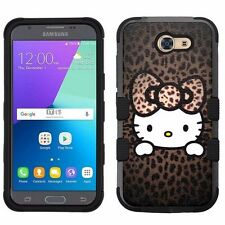 for Samsung Galaxy J3 Emerge (2017) Rugged Impact Hybrid Case Hello Kitty #HP