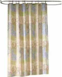 Kohl's Bayside Fabric Shower Curtain Ocean Nature Tropical Green Multi Print NEW