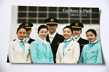 Korean Air Airline Postcard Crew Pilots Stewardesses Collectible Post Card New