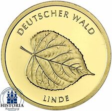 """Deutschland 20 Euro Gold """" Linde """" Deutscher Wald 2015 Münze  Stempelglanz Mzz G"""