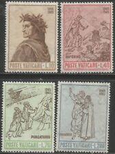 VATICAN 1965 700th BIRTH OF DANTE ALIGHIERI Scott #410-13 COMPLETE MNH SETS 0435