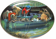 Collector Plate Kitty Cat Catfish Creek Boat Fishing Franklin Mint