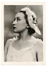1951 Galina Ulanova ~ Ballerina Kirov Ballet RARE Russian Photo RPPC postcard