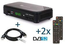 UNS100+PVR DVB-S2 Full HD SAT-Receiver inkl. 1,5 m HDMI Kabel / 2. Fernbedienung