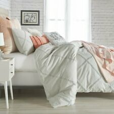 Shameka Chenille Lattice 3 piece Comforter Set King