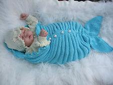 Papier motif tricot pour faire * OCÉANIE * sirène Cocoon ensemble pour bébé / poupée reborn