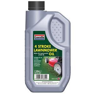 Granville 4 Stroke Lawnmower Oil Garden Machinery Oil Fluid SAE 30 1 Litre