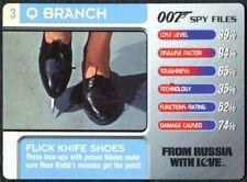 Flick Knife Shoes #3 Q Branch 007 Spy Files 2002 James Bond Trade Card (C1857)