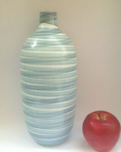 Albi brand, Spain, large blue recyled art glass vase 31cm excellent cond.