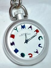 Marc by Marc Jacobs Aluminum Pocket Watch White Dial Colorful Hours MBM7500