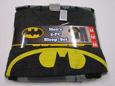 Nwt Mens Batman Sleep Set Fleece Sleep Lounge Pajama Pants Tshirt Medium