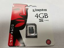 AUTHENTIC/SEALED Kingston 4GB Class 4 micro SDHC Memory Flash Card - SDC4/4GBSP