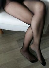 Collant Porté noir , Used worn pantyhose