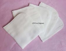 5 Mini Muslin Square Microfiber Buffing Face Cloths Facial Cleanser / Made in UK