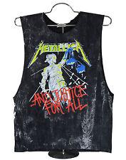 Metallica T-shirt Heavy Metal band singlet tank top black stonewash unisex new M