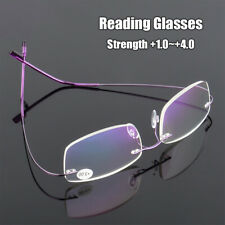 Flexible Reading Glasses Presbyopic Eyeglasses Memory Titanium Rimless