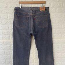 Vintage Levi's 501 Men's Classic Fit Straight Leg Grey Denim Jeans W38 L34
